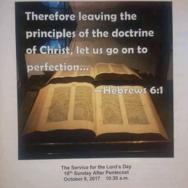 Sermon Bulletin Image
